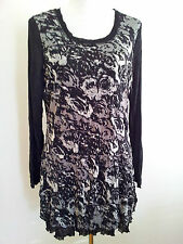 Individual Style! Grace Hill size S-M black mesh top in excellent condition