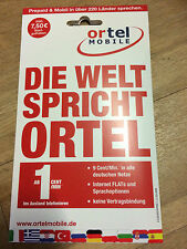 German eplus/ortel sim-card with 7.50 EURO credit to sell