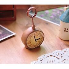 Vintage Clock Photo Memo Note Table Name Number Card Holder Clip Wedding