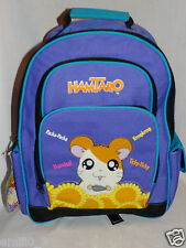 """NEW WITH TAGS HAMTARO LARGE SCHOOL PURPLE  12"""" x 16"""" BACKPACK"""