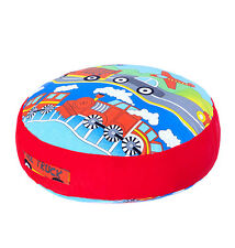 Transport Print Children's Large Floor Cushion Soft Filled Huge Play Seat Pillow