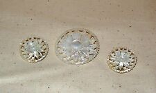 """Jewelry ~ Mother of Pearl Earrings ~ Clip-on ~ & Matching Broach ~ 1 1/2"""" dia"""