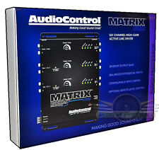 AudioControl Matrix Plus 6-CHANNEL CAR STEREO PRE-AMP LINE DRIVER BLACK 2016