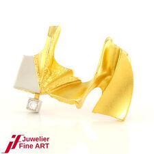 LAPPONIA Brosche - 18K/750 Gelbgold/Weißgold - Brillant ca. 0,05ct. - 8,2g