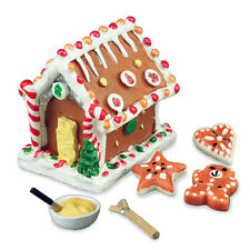 Reutter Porzellan Christmas Baking / Gingerbread House Set Dollhouse 1:12