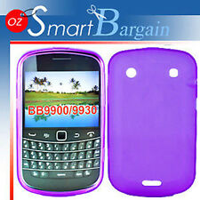 New PURPLE Soft Gel TPU Cover Case For BlackBerry Bold 9900 + Screen Protector