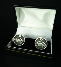 Cancer Cufflinks Zodiac Star Sign Crab Cuff Links Mens Pewter Gift FREE UK POST