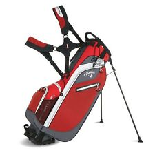 Callaway Hyper Lite 3 Stand Bag Red/Charcoal/White Double Strap 2016