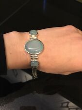 Stunning BLUE CHALCEDONY And 925 Sterling Silver Bracelet
