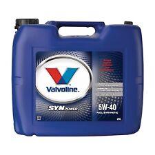 Valvoline SynPower 5W-40 Motoröl 20 Liter Porsche A-40 BMW LL-01 VW 502.00/505.0