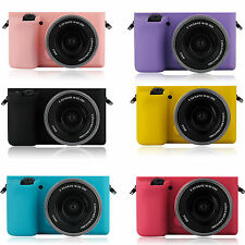 Multicolor Silicone Case Soft Protective Skin For Sony A5100 A5000 16-50mm Lens