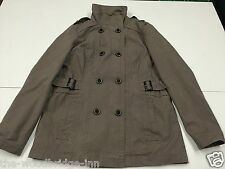 C&A YESSICA SIZE 16 BROWN LADIES DOUBLE BREASTED LINED JACKET 4M