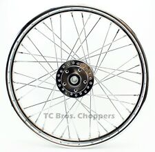 "Chrome Front 40 Spoke Wheel 21 ""x 2.15"" (fits FX,Sportster 1984-1999)"