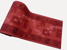 Läufer Teppich Brücke Rot Weiß Muster 80 cm breit Meterware rutschfest