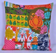 Vintage Cotton Linen Pillow Case Sofa Throw Cushion Cover Patchwork Home Decor