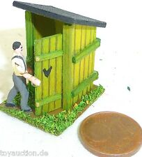 Outhouse country Toilet building with Bauer Wood Preiser 1:87 H0 #GD1 PR5 å