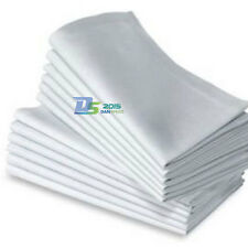 6pcs White Premium Wedding Restaurant Dinner Party Cloth Linen Napkins 48*48cm
