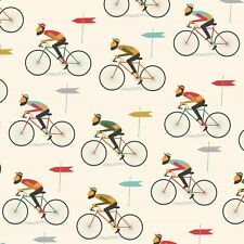 dotcomgiftshop 5 SHEETS OF LE BICYCLE GIFT WRAPPING PAPER