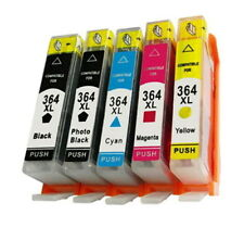 5 Ink Cartridge Black Cyan Magenta Yellow MultiPack For Use HP Deskjet 3520