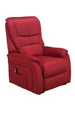 """TV-Sessel """"Amrum 7"""" Mikrofaser rot, Lift-Funktion,Fernsehsessel"""