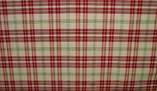 Prestigious Textiles Red / Apple / Cream Check Curtain/ Xmas Tablecloth Fabric