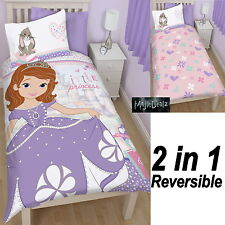 DISNEY SOFIA THE FIRST ACADEMY REVERSIBLE SINGLE PANEL DUVET QUILT COVER BEDDING
