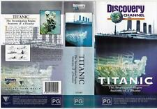 TITANIC - INVESTIGATION BEGINS, ANATOMY OF A DISASTER  *RARE VHS TAPES*