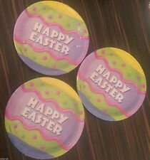 """Happy Easter 7"""" paper plates 8 pack - party plates - Easter egg - Easter party"""