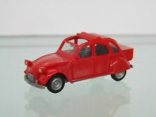 Herpa 027632-002 H0 1:87 Citroen 2 CV mit Queue, rot NEU in OVP