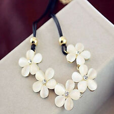 Daisy Flower Charm Jewelry Chunky Statement Bib Pendant Chain Choker Necklace