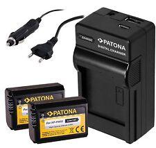 2x Patona AKKU inkl. 4in 1 USB Ladegerät für Sony a6000 Alpha 6000 / NP-FW50