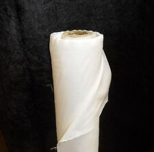 WHITE  POLY COTTON TWILL CURTAIN LINING WIDTH 137CM SOLD BY THE METRE POST FREE