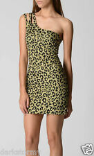 BNWT TIGERLILY NIGHTS METALLIC LEOPARD SIRE ONE SHOULDER DRESS (8) RRP $199.99