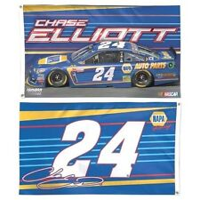 2017 CHASE ELLIOTT #24 NAPA 3' X 5' DELUXE NASCAR FLAG 2 SIDED NEW FREE SHIP