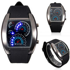 Fashion Men's Women Stainless Steel Sport Date Digital LED Bracelet Watches gift