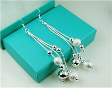 2016 Valentine Gift Jewelry 925Silver Women Ladies Bling Balls Earrings+Gift BOX