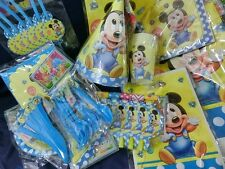 Baby Mickey Mouse Deluxe Party set,14 items kids birthday party decoration
