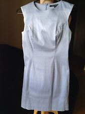 FRENCH CONNECTION blush blue/pail blue corporate / work sleeveless  dress,s.6/XS