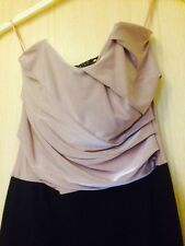 MISO BANDEAU STRETCHY STRAPLESS  TWO TONE BLACK GOLD COPPER  DRESS S UK 8