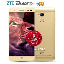 "New Unlocked ZTE Blade V7 Lite Gold 5"" IPS Quad Core 4G LTE Android Mobile Phone"