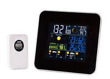 Funk Wetterstation Thermometer Temperatur Außensensor Wetter Hygrometer Funkuhr