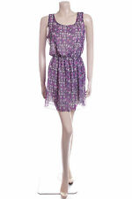New Carbon Summer Dress Size 12 Purple Small Flowers Floral Pretty Floaty