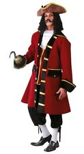 Mens Red Pirate Captain Halloween Film Fancy Dress Costume Outfit Size Large