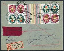 Dt. Reich Wappen 1929 Kehr-Zusammendruck Einschreiben Express Beleg (S13003)