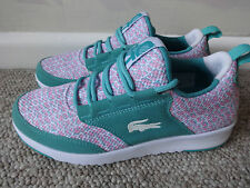 Lacoste Sport Light - 1 runner CSP trainers green/pink uk 4 eu 37 us 6 new+tags