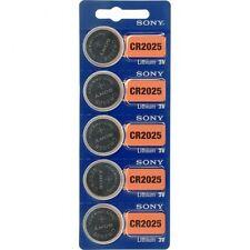 5 x Sony Batterie CR2025 Lithium 3V Knopfbatterie CR 2025 NEU OVP