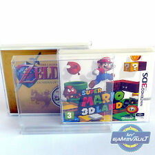 10 x Nintendo 3DS Box Protectors 0.4mm PET Plastic - Fits SEALED & Used Games