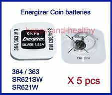 Energizer SR621SW / W (364 / 363) Silver Oxide button Battery x 5 pcs FREE Post