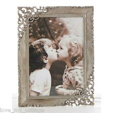 Vintage Shabby Chic RUSTIC STEEL Lace Metal Photo Picture Frame Wedding GIFT 4x6