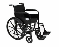 New Luxury Lightweight Folding Self Propelled Wheelchair, removable footrests